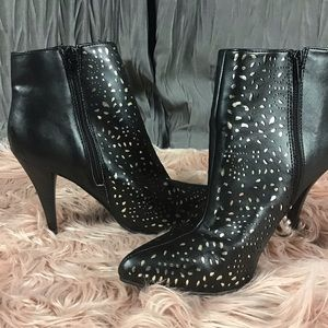 Cushion Walk Cut Outs Ankle Boots